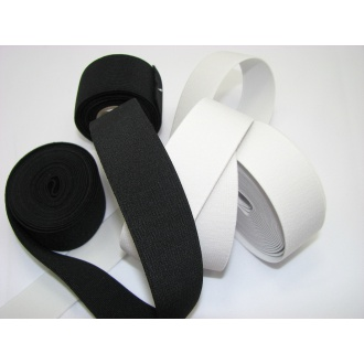 Guma prádlová š.2,5cm , čierna