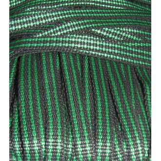 Popruh čierno zelený 1cm