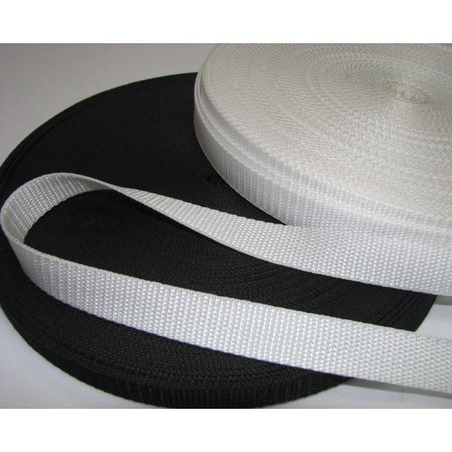 Popruh biely 2,5cm