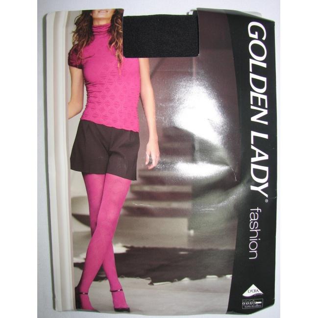 Golden lady Silonky vzorované 40den 4/L CAMELIA