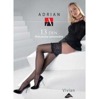 Adrian podväzkové silonky 15den VIVIAN 1/2 OPAL