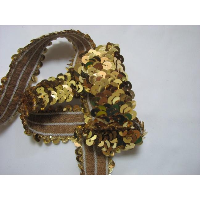 Elasický pásec 0,5m zlatý