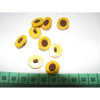 Gombík detský slnečnica O 1,5cm