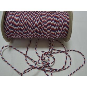 Točená šnúra trikolóra O2mm