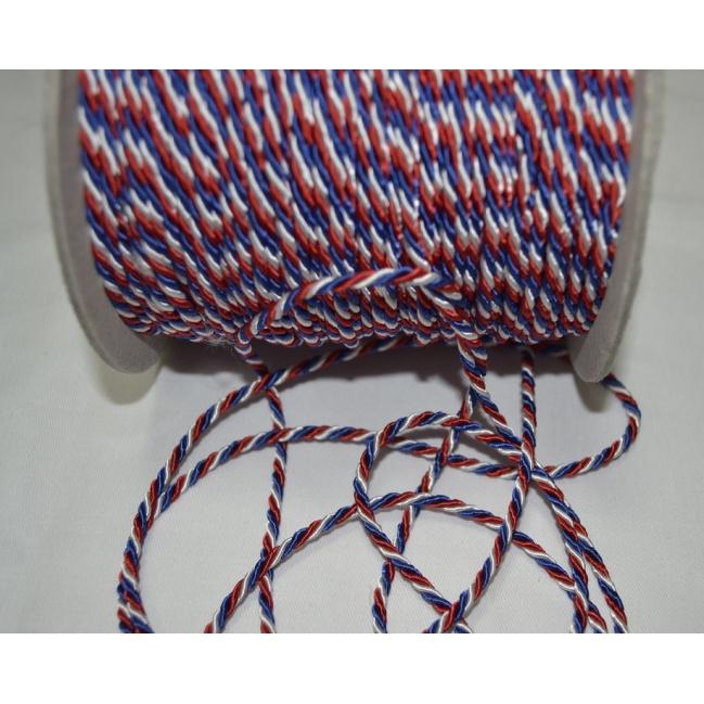 Točená šnúra trikolóra  O3mm