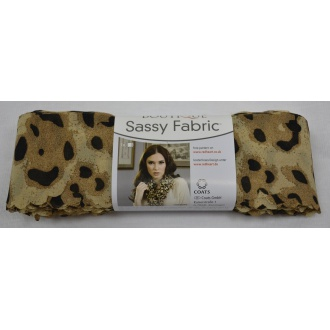 Sassy Fabric - leopard Red Heart
