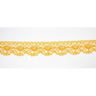Krajka bavlna žltá 2cm