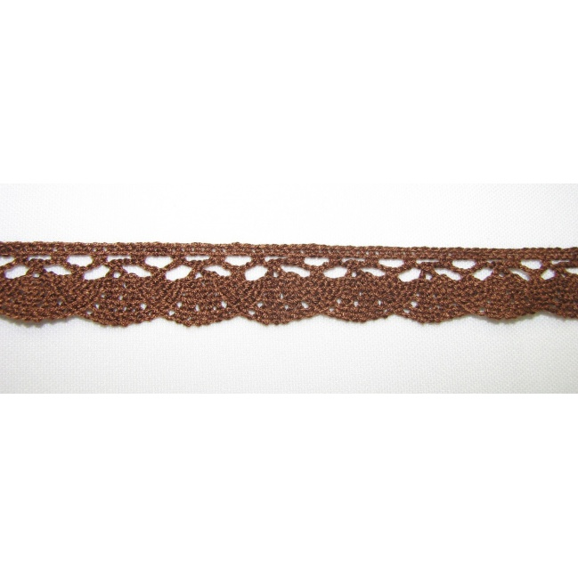 Krajka bavlna ružová 1,5cm