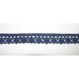 Krajka bavlna modrá 1,3cm