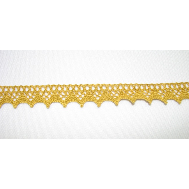 Krajka bavlna žltá 1,5cm