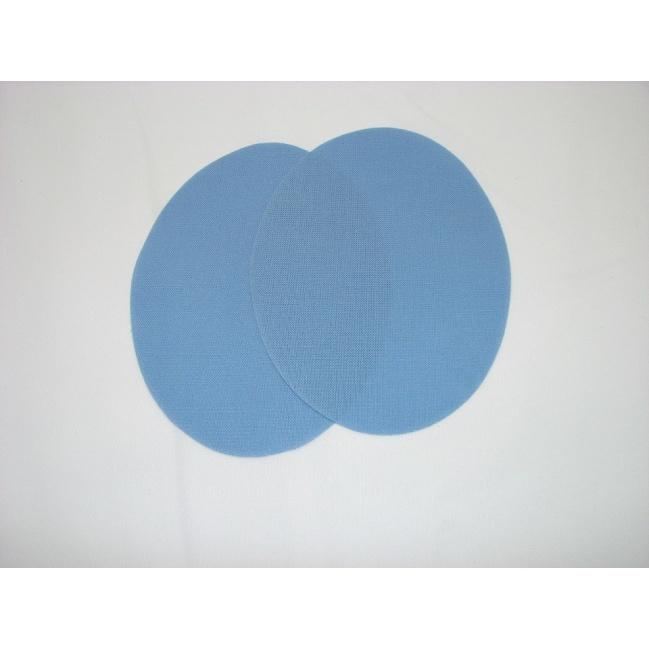 Nažehľovacie plátno - ovál,svetlo modrý