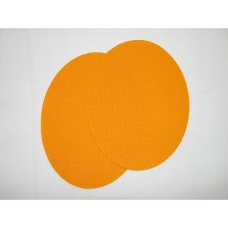 Nažehľovacie plátno - ovál,oranžová