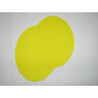 Nažehľovacie plátno - ovál ,žltá