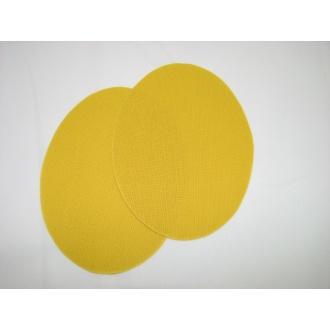 Nažehľovacie plátno - ovál,tmavo žltá