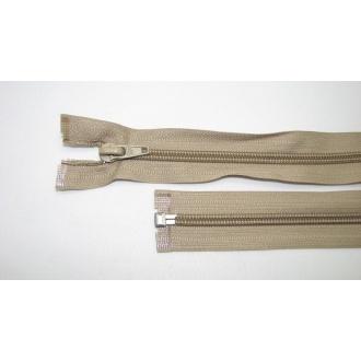 Zips špirála deliteľný 5mm - dĺžka 35cm, farba béžová