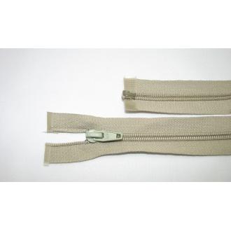 Zips špirála deliteľný 5mm - dĺžka 35cm, farba šedo béžová