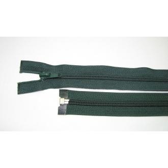 Zips špirála deliteľný 5mm - dĺžka 35cm, farba tmavo zelená