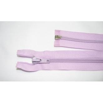 Zips špirála deliteľný 5mm - dĺžka 35cm, farba svetlo fialová