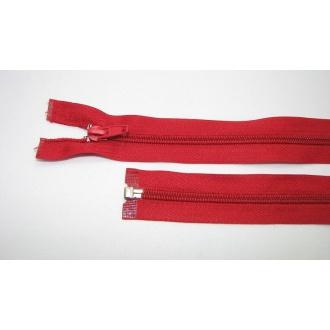 Zips špirála deliteľný 5mm - dĺžka 35cm, farba červená