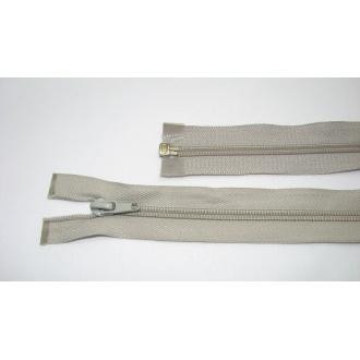 Zips špirála deliteľný 5mm - dĺžka 35cm, farba svetlo šedá