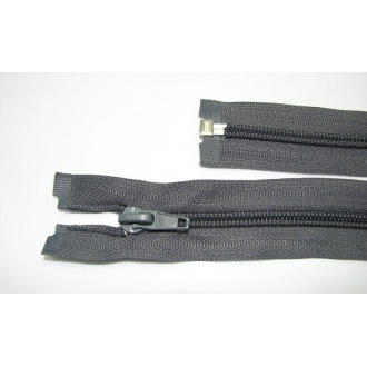 Zips špirála deliteľný 5mm - dĺžka 40cm,farba tmavo šedá