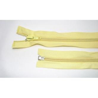 Zips špirála deliteľný 5mm - dĺžka 40cm,farba žltá