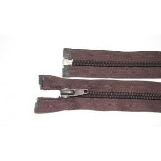 Zips špirála deliteľný 5mm - dĺžka 40cm,farba tmavo hnedá