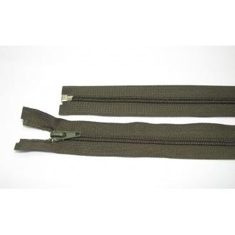 Zips špirála deliteľný 5mm - dĺžka 40cm,farba khaki