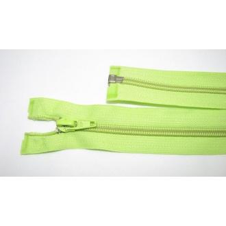 Zips špirála deliteľný 5mm - dĺžka 40cm,farba svetlo zelená