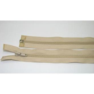 Zips špirála deliteľný 5mm - dĺžka 40cm,farba béžová