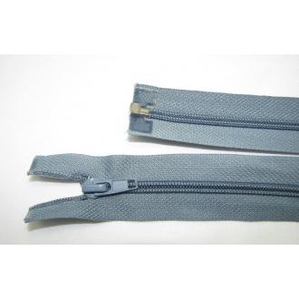 Zips špirála deliteľný 5mm - dĺžka 40cm,farba modrošedá