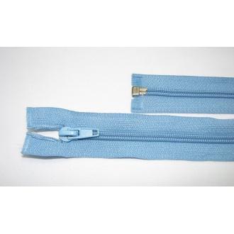 Zips špirála deliteľný 5mm - dĺžka 40cm,farba modrá
