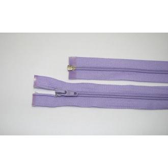 Zips špirála deliteľný 5mm - dĺžka 40cm,farba svetlo fialová