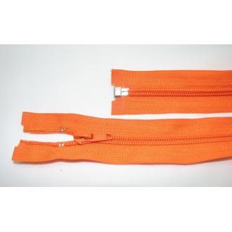 Zips špirála deliteľný 5mm - dĺžka 40cm,farba oranžová