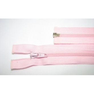 Zips špirála deliteľný 5mm - dĺžka 40cm,farba svetlo ružová