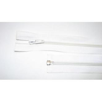 Zips špirála deliteľný 5mm - dĺžka 45cm farba biela