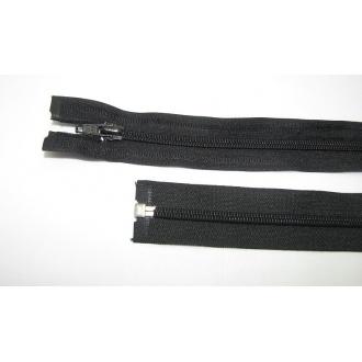 Zips špirála deliteľný 5mm - dĺžka 45cm farba čierna