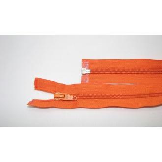Zips špirála deliteľný 5mm - dĺžka 45cm farba oranžová