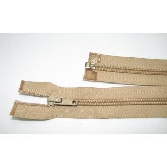 Zips špirála deliteľný 5mm - dĺžka 45cm farba béžová