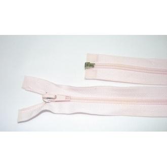 Zips špirála deliteľný 5mm - dĺžka 45cm farba svetlo ružová
