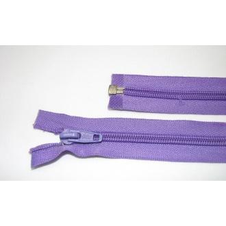 Zips špirála deliteľný 5mm - dĺžka 45cm farba tmavo fialová