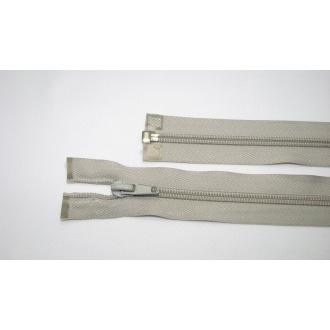 Zips špirála deliteľný 5mm - dĺžka 45cm farba svetlo šedá