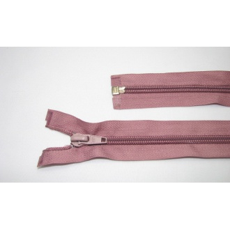 Zips špirála deliteľný 5mm - dĺžka 45cm farba staroružový