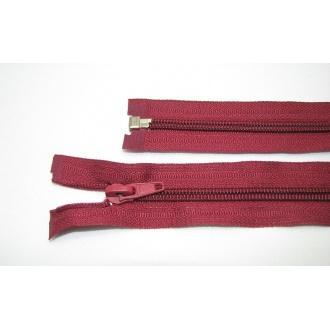 Zips špirála deliteľný 5mm - dĺžka 45cm farba bordová