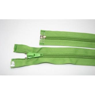 Zips špirála deliteľný 5mm - dĺžka 45cm farba svetlá zelená