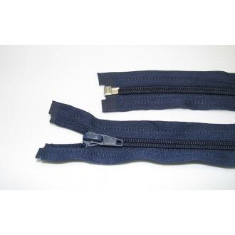 Zips špirála deliteľný 5mm - dĺžka 45cm farba tmavo modrá