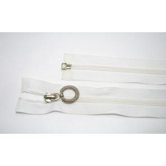 Zips špirála deliteľný 5mm - dĺžka 50cm, farba biela