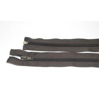 Zips špirála deliteľný 5mm - dĺžka 50cm, farba čierno hnedá