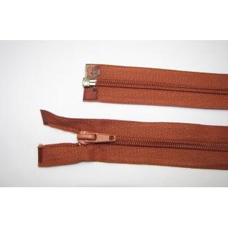 Zips špirála deliteľný 5mm - dĺžka 50cm, farba tehlová