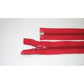 Zips špirála deliteľný 5mm - dĺžka 50cm, farba  červená